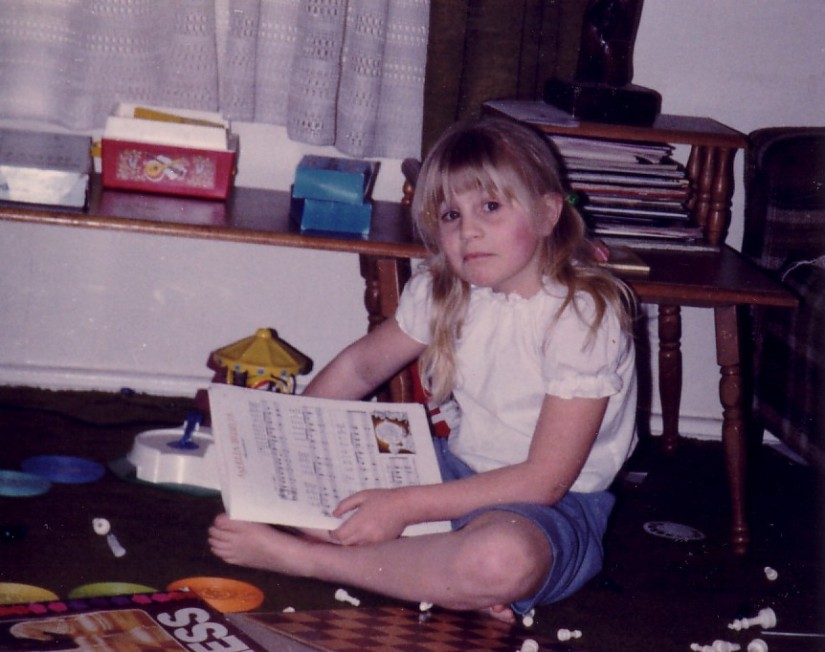 The Author, Age 8 surrounded by her creativity