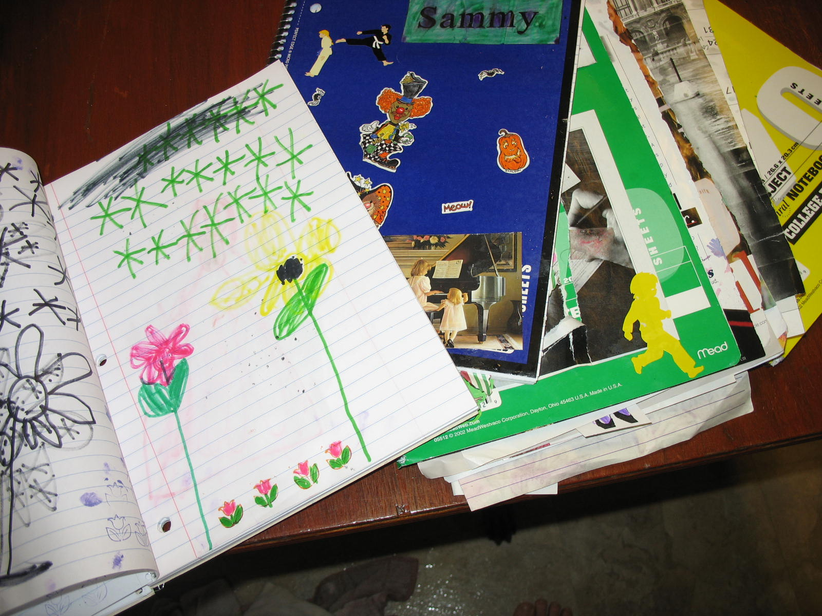 The notebooks - creativity at its best!